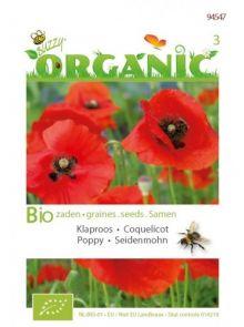 Klaproos Rhoeas Rood (biologisch geteeld zaad Poppies, rode klaproos)