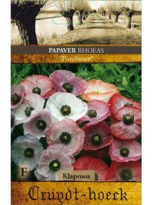 Papaver rhoeas Parelmoer (zaad Poppies, parelmoerkleurige klaproosjes)
