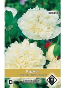 Papaver paeoniflorum Cream Paeony (zaad Poppies,  Pioenbloemige papaver)