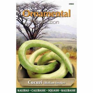Fleskalebas Cucuzi (Italian Snake), (zaad Ornamental Collection)
