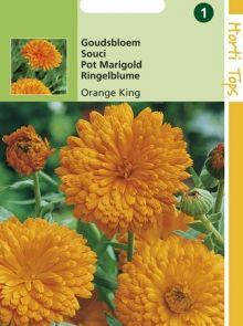 Calendula officinalis Orange King (zaad goudsbloem)