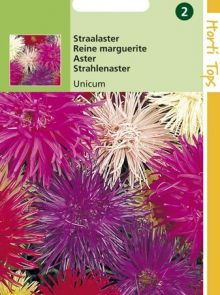 Callistephus chinensis Unicum (zaad straalaster, zomeraster)