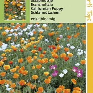 Eschscholtzia californica enkele bloemen gemengd (zaad Slaapmutsjes)
