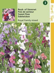 Lathyrus odoratus Royal Family (zaad Reuk- of Siererwt, gemengd grote bloemen)