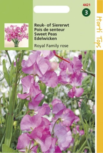 Lathyrus odoratus Royal Family rose (zaad Reuk- of Siererwt)