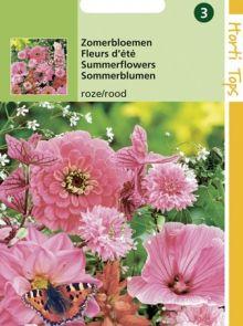 Zaadmengsel Zomerbloemen roze en rood