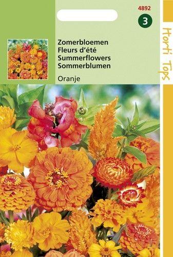 Zaadmengsel Zomerbloemen oranje