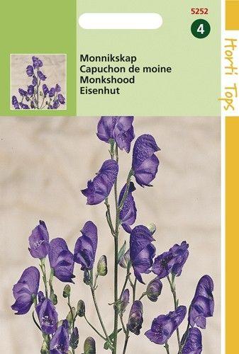 Aconitum napellus (zaad donkerblauwe Monnikskap)