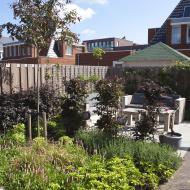 Sfeervolle nieuwbouwtuin