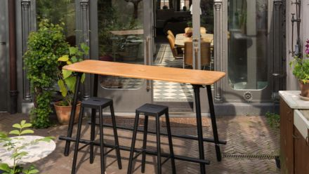 Vergadertafels voor buiten (werkoverleg, werktafel, bureautafel)