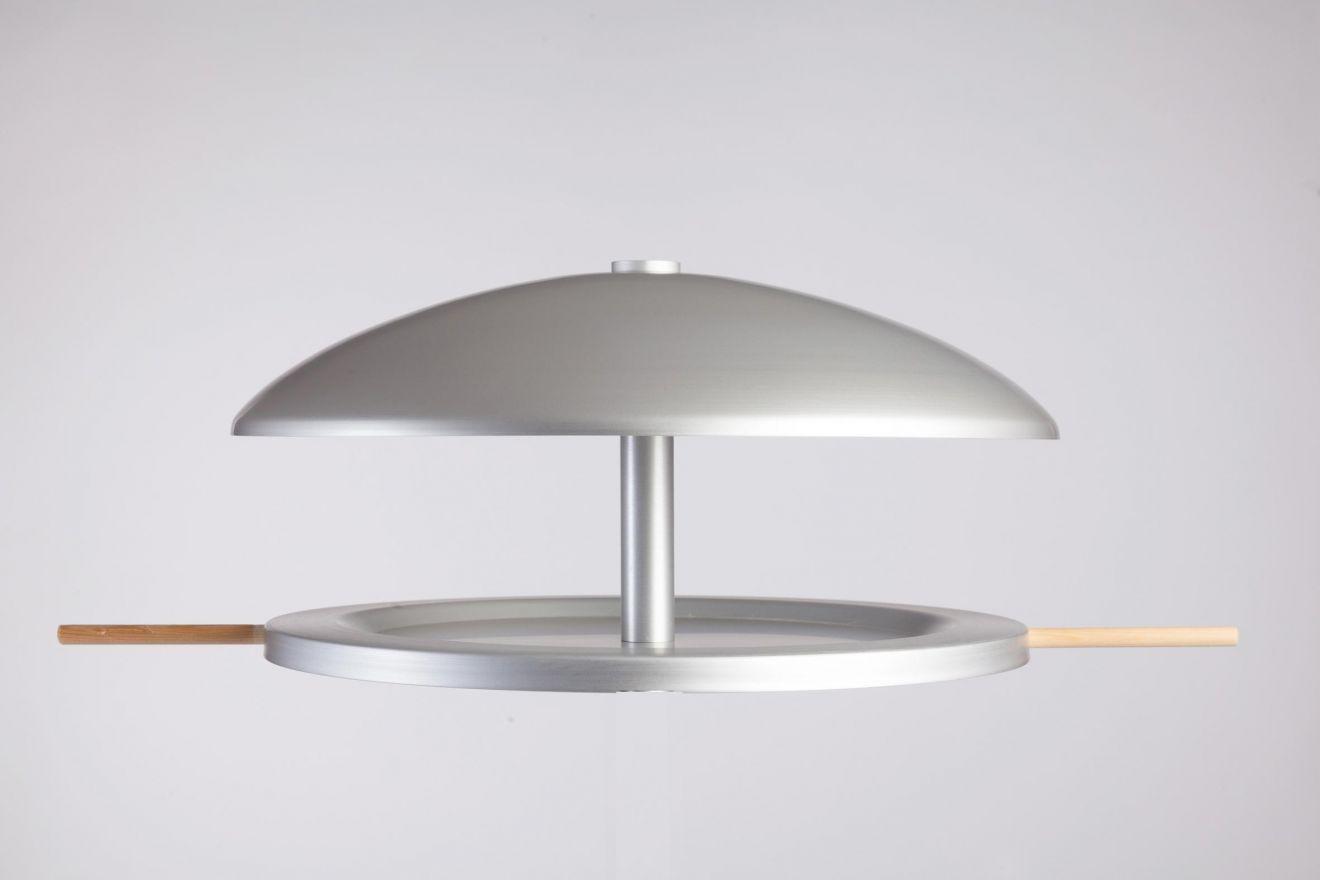 Vogelhuisje rond Aluminium, Blank (vogelvoederhuisje), hangend of staand voor op tafel/muur