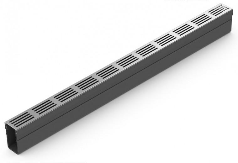 ACO SlimLine gootsysteem B=61mm L=1000mm (Blank, ACO Easygarden artikelnummer 19000)