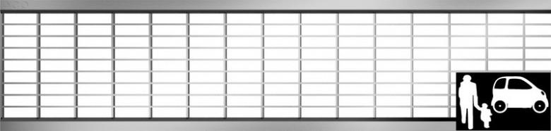 Maasrooster Verzinkt staal 30/10, L=500mm (ACO Easygarden artikelnummer 310311)