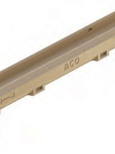Euromini, Euroline goot, L=1000mm, H60 met onderuitloop Ø110mm (ACO Easygarden artikelnummer 810010)