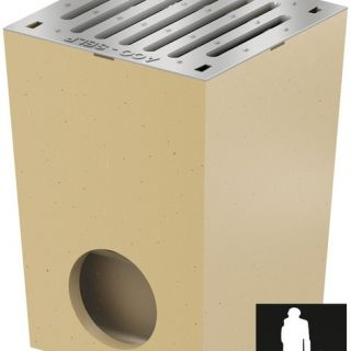 Afwateringsput 25 x 25 cm verzinkt zonder randbescherming (Vloerput Polymeerbeton, Easygarden, ACO artikel 01581)