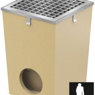 Afwateringsput 25 x 25 cm verzinkt met randbescherming (Vloerput Polymeerbeton, Easygarden, ACO artikel 36889)