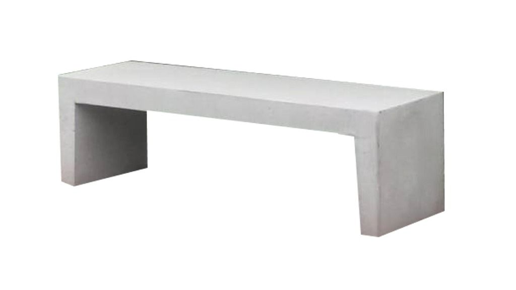 Beton Bank betonnen tuinbank licht grijs 150 cm (bank van beton artikelnummer