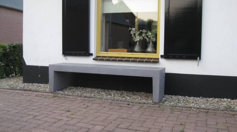 Betonnen tuinbank donker grijs 242 cm (bank van beton artikelnummer zb1017)