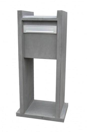 Betonnen brievenbus VONO grijs (brievenbus van beton artikelnummer 10130G)