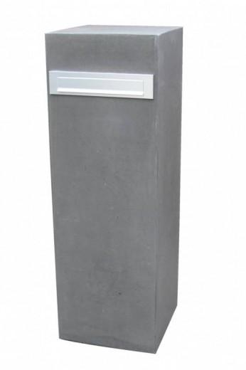 Betonnen brievenbus ZUIL grijs (brievenbus van beton artikelnummer 10215G)