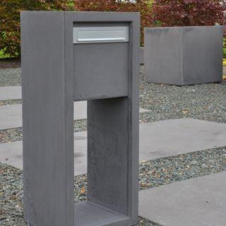 Betonnen brievenbus KUBUS grijs (brievenbus van beton artikelnummer 10170G)