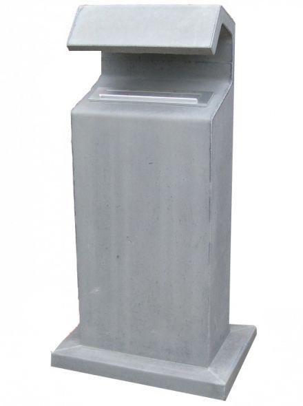 Betonnen brievenbus APACHE grijs (brievenbus van beton artikelnummer 10160G)