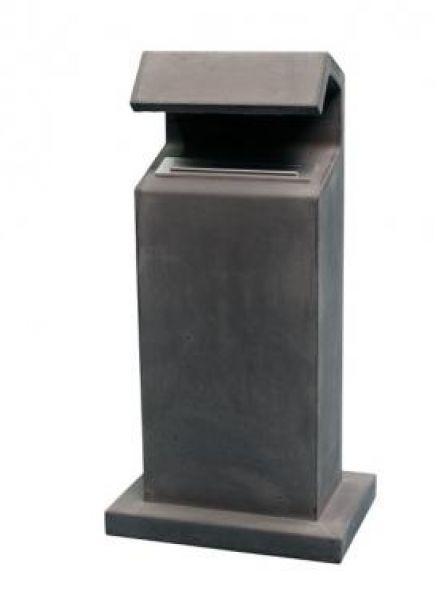 Betonnen brievenbus APACHE antraciet (brievenbus van beton artikelnummer 10160A)