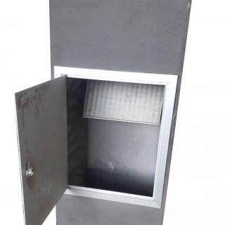 Betonnen brievenbus PAKKET antraciet (brievenbus van beton artikelnummer 10110A)