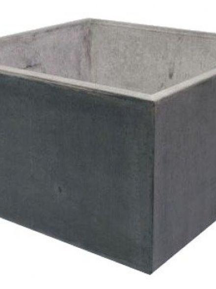 Vierkante Betonnen bloembak 120x120x80 cm licht antraciet (vierkante bloembakken van beton artikelnummer 20180A)