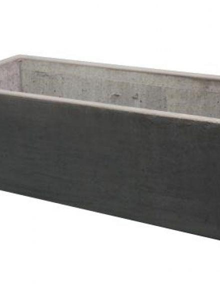 Rechthoekige Betonnen bloembak 100x40x40 cm beton grijs (bloembakken van beton artikelnummer 21260G)