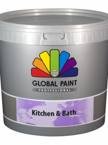 Global Paint - Kitchen & Bath - 2,5 liter (schimmelbestendige muurverf)