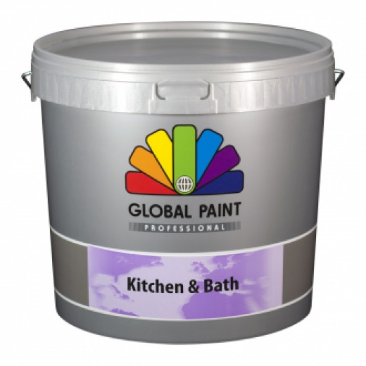 Global Paint - Kitchen & Bath - 2,5 liter (schimmelbestendige muurverf)