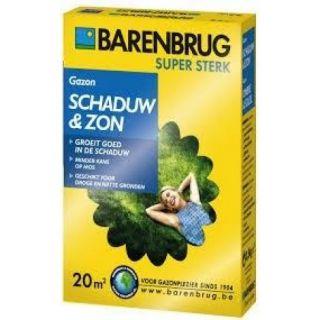 Barenbrug Schaduw & Zon 500 gram (graszaad 20 m2 siergazon in de schaduw, Artikelnummer 0230)