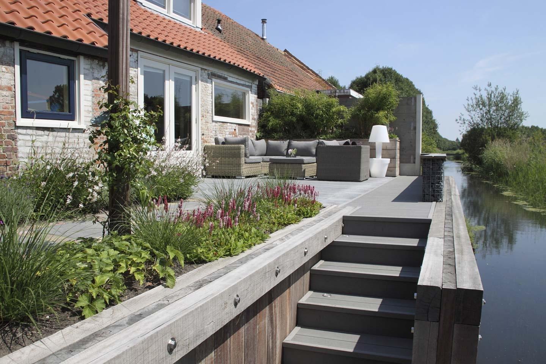 Moderne Loungetuin in Steenbergen