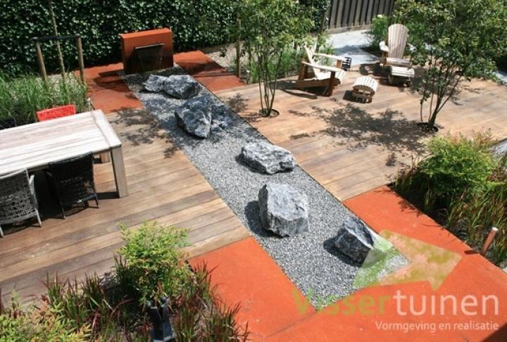 Rotsblokken Voor Tuin : Strakke moderne tuin met corten staal dutch quality gardens