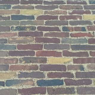 Oude hardgebakken waaltjes Marktplein Druten, Paars Blauw brons genuanceeerd (Gebakken waalformaat klinkers)
