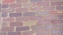 Oude hardgebakken dikformaat Harderwijk, paars, rood, brons genuanceerd