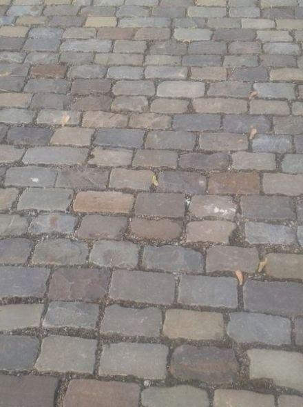 Oude grès / zandsteen keien ca. 13x20 cm (Greskassei langwerpig)