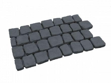 Carpet stones type E21 Basalt per stuk (2 cm dik)