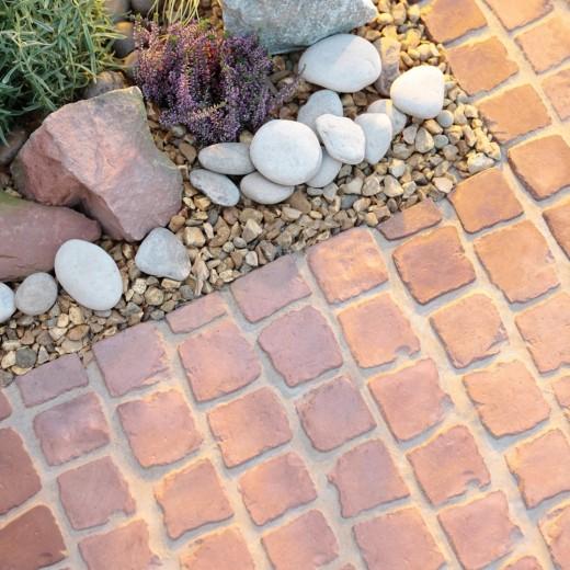 Carpet stones type E21 Roodbruin per stuk (2 cm dik)