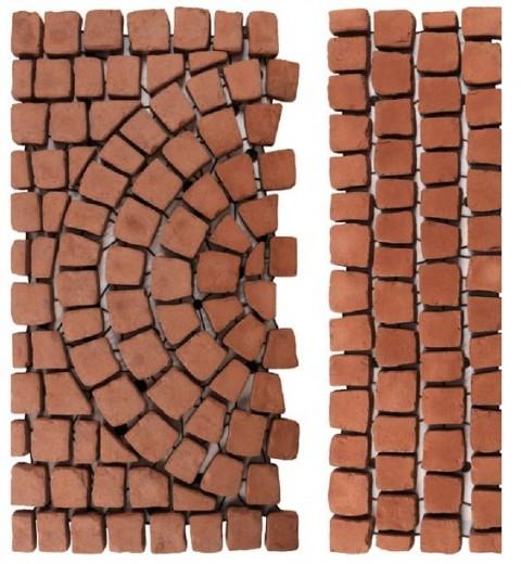 Carpet stones type E41 Roodbruin per stuk (4 cm dik)