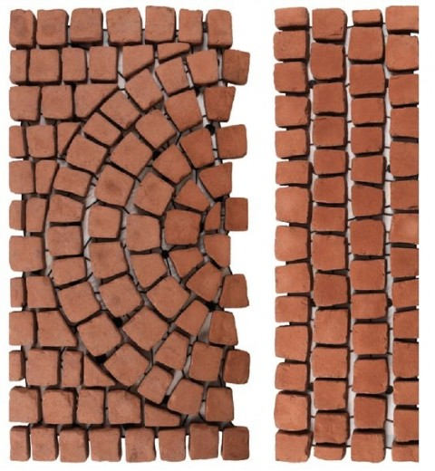 Carpet stones type E48 Roodbruin (Grand Carpet Halfsteens, per stuk)
