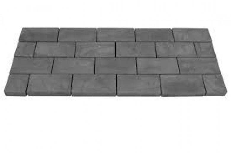 Carpet stones type E49 Basalt (Klinkerverband halfsteens, per stuk)
