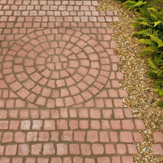 Carpet stones type E44 Roodbruin (Cirkelverband, per stuk)