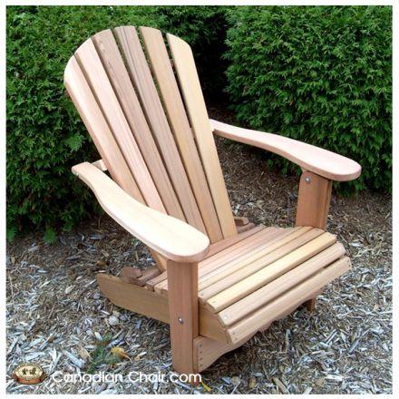 Classic Adirondack Chair CA11 Scrolled - standaard en onbehandeld (Canadian Chair, Canadese tuinstoel)