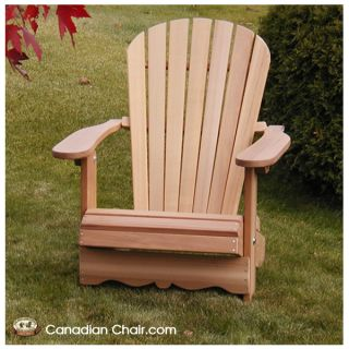 Royal Adirondack Chair CR11 Scrolled - standaard en onbehandeld (Canadian Chair, Canadese tuinstoel)
