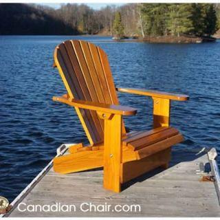 Royal Adirondack Chair CR11 Straight - recht en Light Gold (Canadian Chair, Canadese tuinstoel)