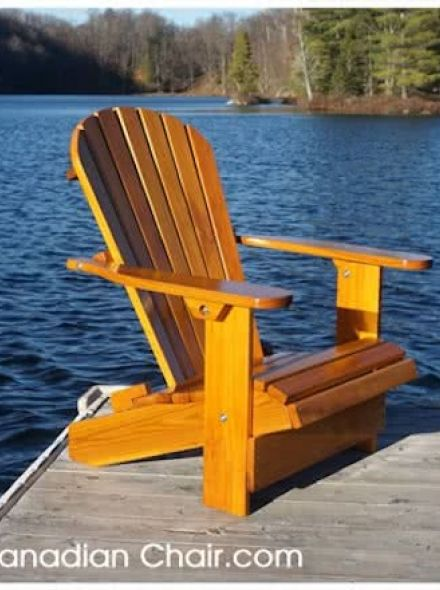 Royal Adirondack Chair CR11 Straight - recht en Light Gold (Canadian Chair, Canadese tuinstoel)