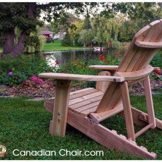 Verstelbare Royal Adirondack Chair RFR11 Scrolled - standaard en onbehandeld (Canadian Chair, Canadese tuinstoel)