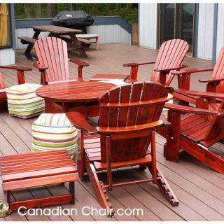 Verstelbare Royal Adirondack Chair RFR11 Scrolled - standaard en Dark Mahogany (Canadian Chair, Canadese tuinstoel)